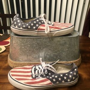 Vans | Stars and Stripes Size 10 Van Doren